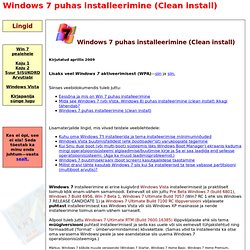 Windows 7 puhas installeerimine (Clean install)