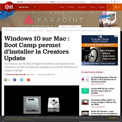 Windows 10 sur Mac : Boot Camp permet d'installer la Creators Update