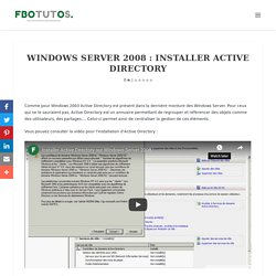 Windows Server 2008 : Installer Active Directory