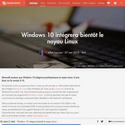 Windows 10 intégrera bientôt le noyau Linux