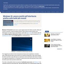 Windows 10, ancora novità nell'interfaccia grafica sulle build più recenti