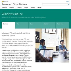 PC Management and Security Software in the Cloud - Windows Intune