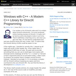 Windows with C++ - A Modern C++ Library for DirectX Programming - FrontMotion Firefox