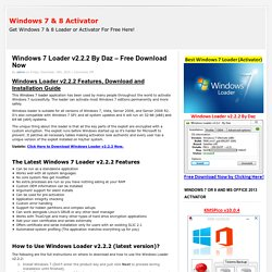 Windows 7 Loader v2.2.2 By Daz – Free Download Now
