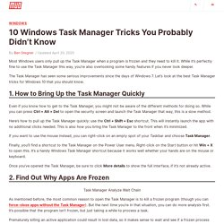 10 Windows Task Manager Tricks You Probably Didn't Know
