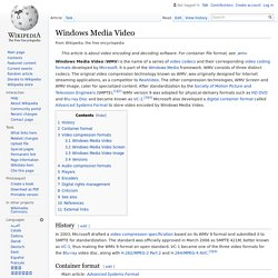 Windows Media Video