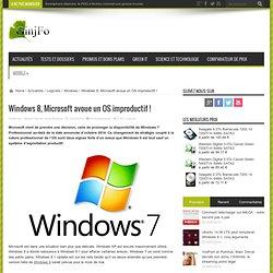 Windows 8, Microsoft avoue un OS improductif !