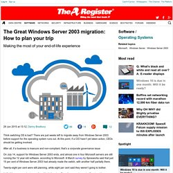 The Great Windows Server 2003 migration: How to plan your trip