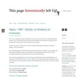 Nginx + PHP + MySQL on Windows in 6 minutes