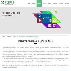 Windows Mobile App Development in India