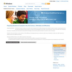 Windows MultiPoint Server 2011 Home Page