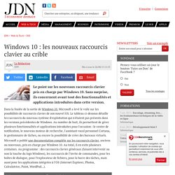 Windows 10 : les nouveaux raccourcis clavier au crible