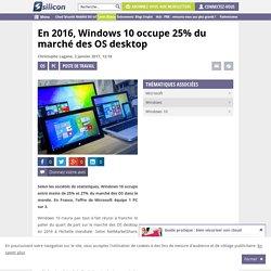 En 2016, Windows 10 occupe 25% du marché des OS desktop