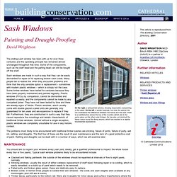 Sash Windows: Painting and Draught-Proofing