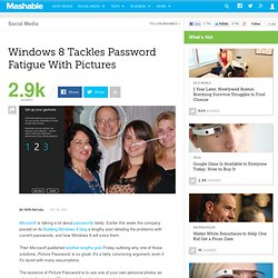 How Picture Password Works in Windows 8