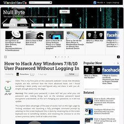 How to Hack Any Windows 7/8/10 User Password Without Logging In