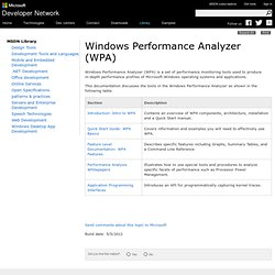 Windows Performance Analyzer (WPA) (Windows Drivers)