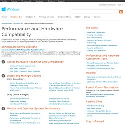 Windows Performance - Hardware Compat, Device, Driver