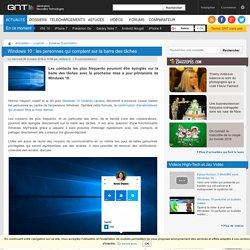Windows 10: les personnes qui comptent sur la barre des tâches