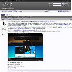 Windows Kinect Driver/SDK - CL NUI Platform Preview