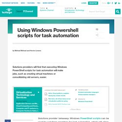 Using Windows Powershell scripts for task automation
