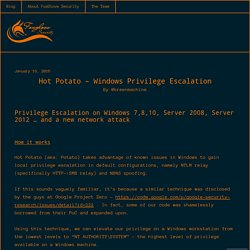 Hot Potato – Windows Privilege Escalation