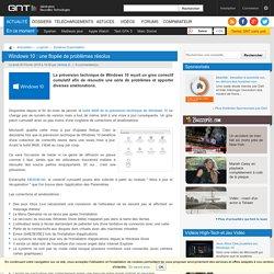 Windows 10 : une flopée de problèmes résolus