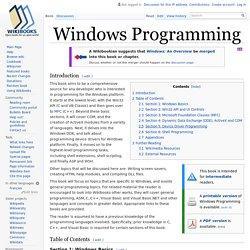 Windows Programming