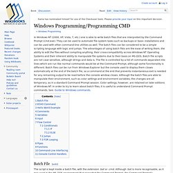 Windows Programming/Programming CMD