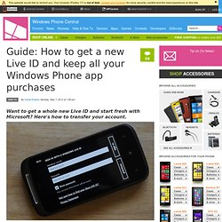 Guide: How to get a new Live ID and keep all your Windows Phone app purchases