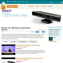 Kinect for Windows Quickstart Series