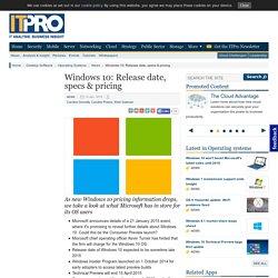 Windows 10: Release date, specs & pricing