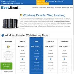Windows reseller hosting server for hosting business