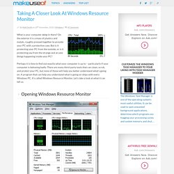 Taking A Closer Look At Windows Resource Monitor