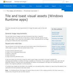 Tile and toast visual assets (Windows Runtime apps) - Windows app development