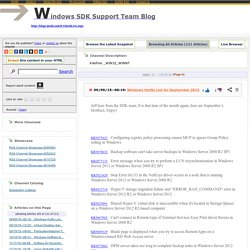 Windows SDK Support Team Blog