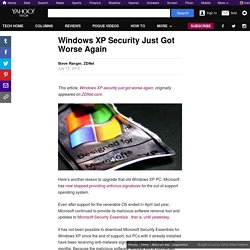 Windows XP Security Just Got Worse Again