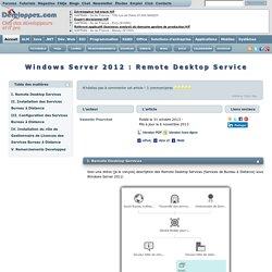 Windows Server 2012 : Remote Desktop Service