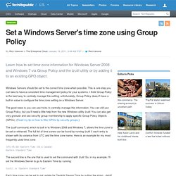 Set a Windows Server's time zone using Group Policy