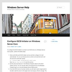 Windows Server Help | Windows Server Tutorials and Community
