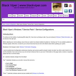 Windows 7 Service Pack 1 Service Configurations by Black Viper