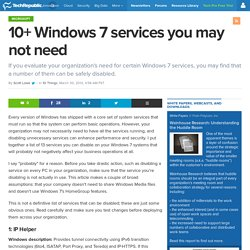 10+ Windows 7 services you may not need