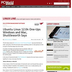 Ubuntu Linux 12.04 One-Ups Windows and Mac, Shuttleworth Says