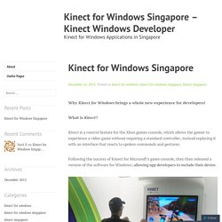 Kinect for Windows Singapore