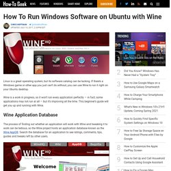 How To Run Windows Software on Ubuntu with Wine