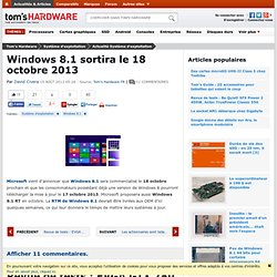 Windows 8.1 sortira le 18 octobre 2013