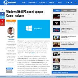 Windows 10: il PC non si spegne - intel driver