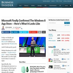 Will Windows 8 Have An App Store?