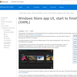 Windows Store app UI, start to finish (XAML)