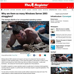 Why are there so many Windows Server 2003 stragglers?